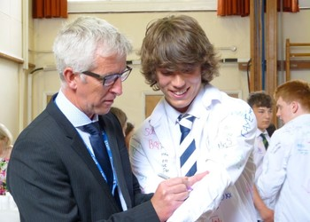 Celebration lunch for Year 11s as they begin GCSE study leave