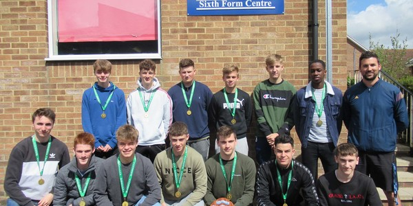 Sixth Form win County Cup football trophy