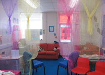 Relaxation room for students and teachers during exam period