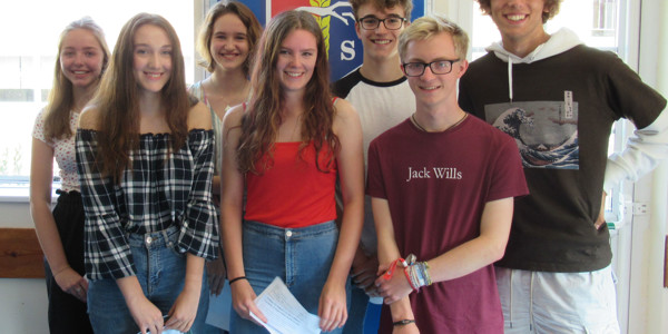 Celebrations for 2019 GCSE results