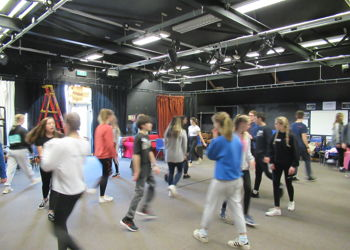 Students audition for the National Youth Theatre