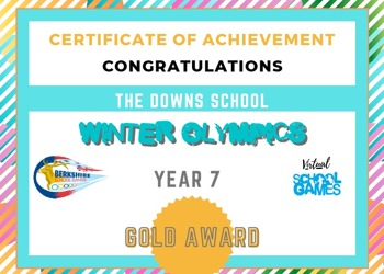 Year 7 crowned county winners of the Berkshire Games Winter Olympics competition